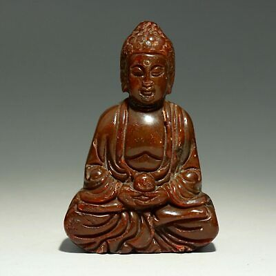 Collectable China Old Jade Hand-Carved Buddhism Kwan-Yin Moral Auspicious Statue