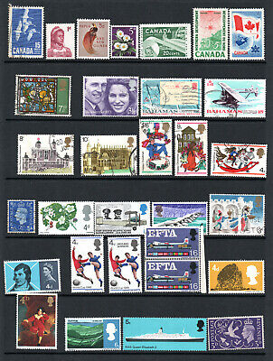 Gb - Commonwealth - Selection X 31 Mnh,M/M & Used Stamps.