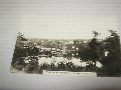 BEAR RIVER,NOVA SCOTIA PART of WATERFRONT  ANTIQUE REAL PHOTO POSTCARD