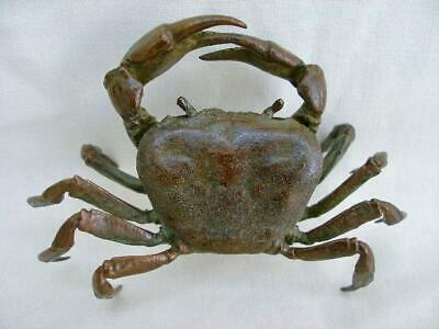 Fine Japanese Meiji Period Signed Bronze Model of a Crab.
