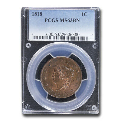 1818 Large Cent MS-63 PCGS (Brown) - SKU#117661