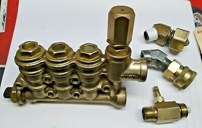 CAT 4PPX & 4DNX Pump Head w/ Unloader, Valves  - USED works , but DRIPS