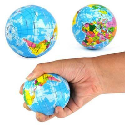 1pc  Earth World Map Globe Foam Relief Bouncy Ball Geography Map Teaching