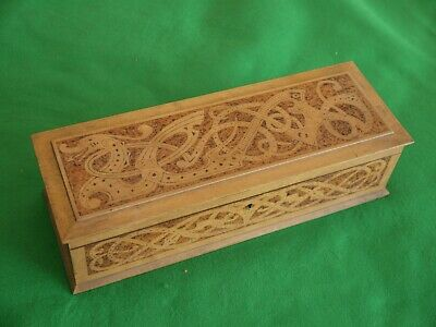 Attractive Vintage Wooden Box Carved Chinese Dragon For Trinkets Desktop Items