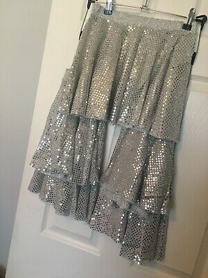 dance costumes 5 Lovely Silver Skirts Age 10-11