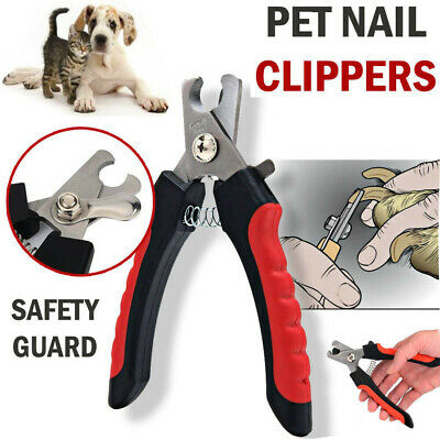 Nail Clippers Pets Dog Cat Claw Cutter Trimmer Grooming Scissors Stainless Steel