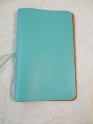 Foxy Fix Travelers Notebook Cover in Aqua Leather Personal Size No. 4 - Le Petit