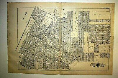 1916 Detroit Grand River Ave. Plymouth Road Linwood Avenue Plat Map Baist's