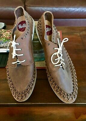 Rollies Brand Mens leather Lace Up Shoes Size 46  Barely Worn In EUC
