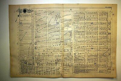 1916 Detroit Woodward 14th Ave Herman Kiefer City Hospital Contagious Plat Map