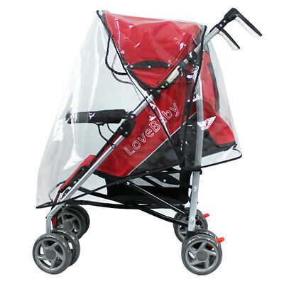 Universal Waterproof Rain Cover Shield Fit Most Strollers Pushchairs Buggys US