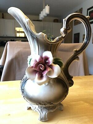 Rare Vintage Capodimonte Pitcher Made In Italy