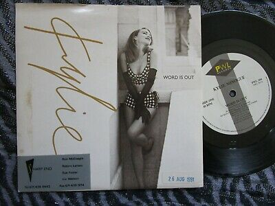 Kylie Minogue – Word Is Out  PWL Records PWL 204 Promo Label Vinyl 7inch  Single