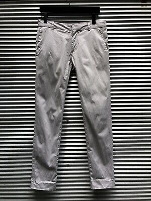 saba mens chino pant trouser work smart casual slim off white grey 30 stretch