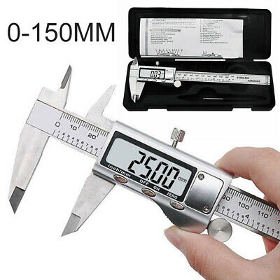 Digital Vernier Caliper 150mm Stainless Steel Micrometer 6 Inch Electronic Tool