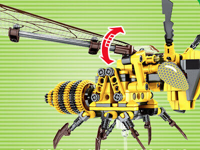 236Pcs Wasp Insect Model Building Blocks Set Easy to Build Toys Bricks Kid Gift