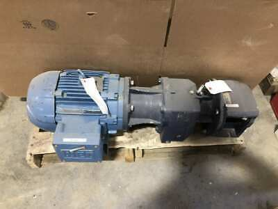 SEEPEX BN 10-12 3HP CI Progressive Cavity Pump 1170/960RPM 208-230/460/380V
