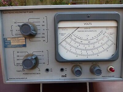Superb Vintage Marconi Tf2604 Valve Voltmeter With All Probes And Leads