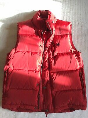 CREW Mens Boys Gilet from CREW - Red - UK Size Medium - New Without Tags