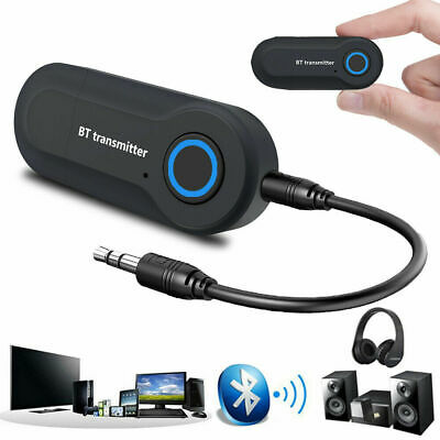 Bluetooth Transmitter 3.5mm Audio Wireless Sender Adapter Für TV PC Kopfhörer
