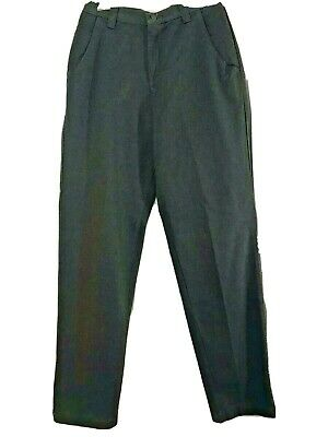 Lee Womens Pants 8 Long Casual Trousers Tall Wrinkle Free Textured Gray