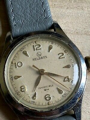 Gents 1950's Helbros Invincible Watch On Strap