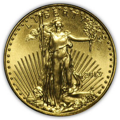 2013 American Eagle 1/10 oz Pure Gold. Gem Uncirculated.