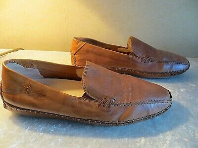 Pikolinos Brown Rustic Leather Loafer Moccasin Shoes Size Uk .5