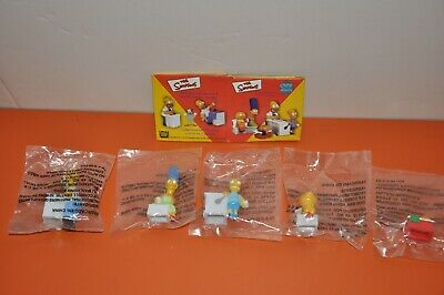 RARE- The SIMPSONS - 5-PIECE UNOPENED MINIATURE SET from MEXICO/1999 with BOX