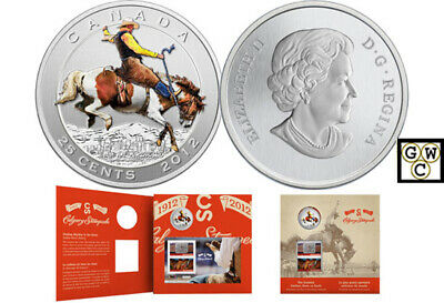 2012 'Calgary Stampede' Colorized 25-Cent Coin and Stamp Set (13008)