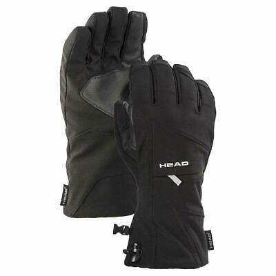 Head Unisex Ski Gloves with Pocket and Touchscreen Technology (Black, Small)