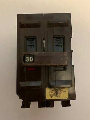 WADSWORTH 30 AMP DOUBLE POLE// 2 POLE 2P 30A CIRCUIT BREAKER METAL FEET TESTED