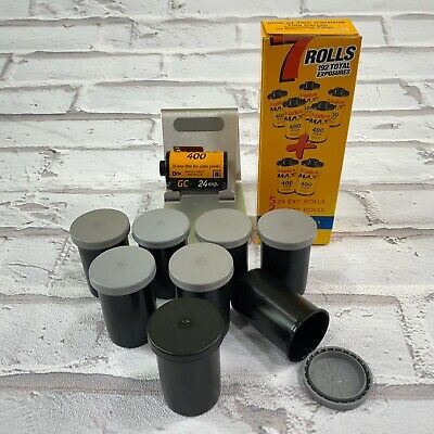 Kodak Max Versatility 400 Film 8 Rolls 204 Exposures 6 - 24, 1 - 36 Open Box