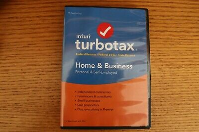 TurboTax Home and Business 2018--Federal + E-File and State--CD for Windows/Mac
