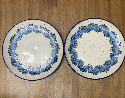 "Polish Pottery 9.75"" Dinner Plate Set of 2"
