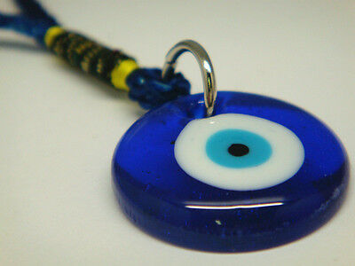 Religious Round Glass Evil Eye Hanging Charms for Safety Travel and Protection
