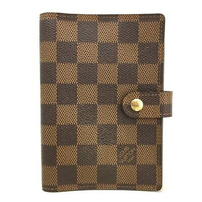 100% Authentic Louis Vuitton Damier Agenda PM Notebook Cover /ee312