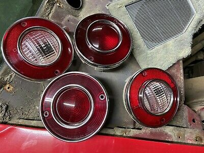 4 Pieces 1974 Corvette C3 Tail Lights w// Backup Lights GM Restoration