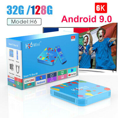 4GB 128GB H96 Mini Android 9.0 TV Box Allwinner H6 Quad Core 6K 4K Set top box