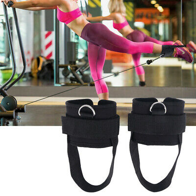 2X Gym Sport Fitness Ankle Strap Belt Strength Butt Leg Weights Exercises Band