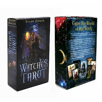 Witches Tarot Deck 78 Cards Divination Prophet Cards  REGULAR size +Instructions