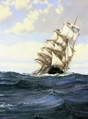 CHENPAT424 big sail boat ship ocean wave art hand-painted oil painting on canvas