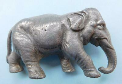 Early Antique 1900s Cast Metal Figurine of Elephant