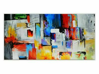 CHENPAT1205 100/% handmade painted abstract boat oil painting art on canvas