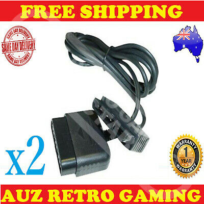 2x Controller Extension Cable PlayStation 2 PS2 & PS1 Remote Control