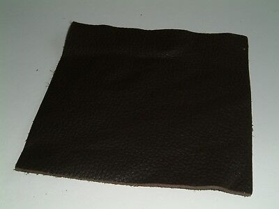 """6""""(150mm)Sq Brown Leather Heavier Grain Craft Patch"""
