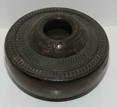 Old ~ Hand Carved Decorative Small Wooden Bowl / Holder