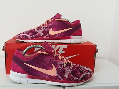 Nike TR 5 Fit Purple/Pink Ladies Fitness/Gym/Running Trainers Size UK 7