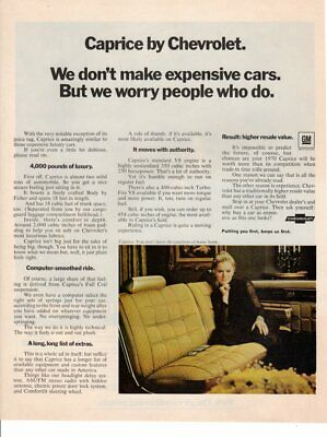 Vintage Print advertisement ad Car CHEVROLET CHEVY Caprice Luxury Seat 1970 car