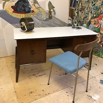 1950s Mid century Modern Meredew small desk. Retailed by Hopewells Nottingham